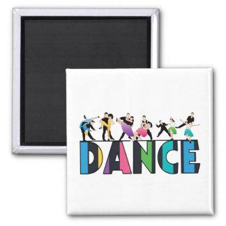 Aimant Amusement et danse rayée colorée de danseurs