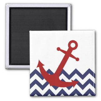 Aimant Ancre rouge sur l'océan de Chevron
