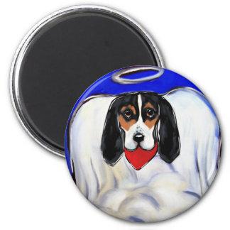 Aimant Ange de chien de basset-hound