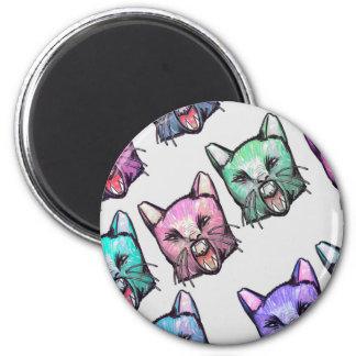Aimant angry, cat, kawaii, cute, animal, mooon, alien, sp