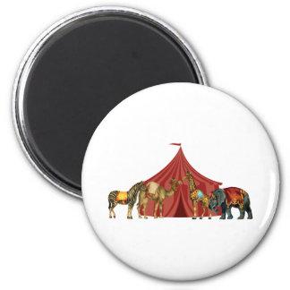 Aimant Animaux et tente de cirque