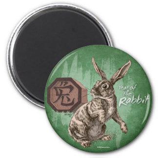 Aimant Année de l'art chinois de zodiaque de lapin