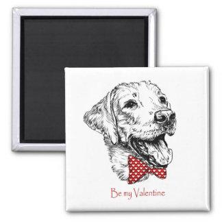Aimant Année Valentine de chien