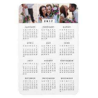 Aimant annuel de calendrier de la photo 4x6 magnet flexible