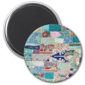 Aimant Aqua et conception bleue de tapisserie d'édredon