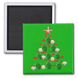 Aimant Arbre de Noël de tortues de mer verte