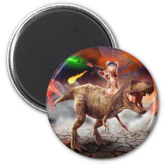 Aimant Armageddon de chat - chat de dinosaure - mauvais