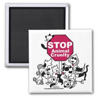Aimant Arrêtez la cruauté animale