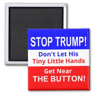 Aimant Arrêtez l'aimant carré des petites mains