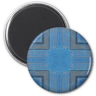 Aimant arrière - plan en bois bleu