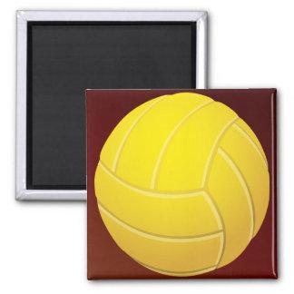 Aimant Arrière - plan rouge terreux de volleyball jaune