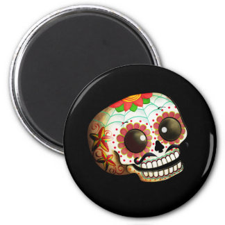 Aimant Art de crâne de Dia de Los Muertos Sugar
