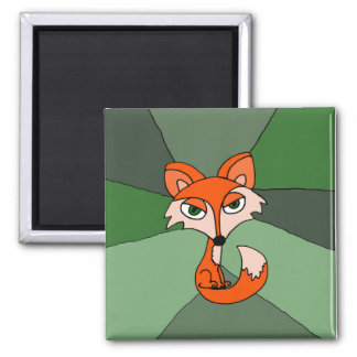 Aimant Art de Fox rouge