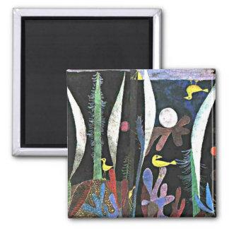 Aimant Art de Paul Klee : Paysage avec les oiseaux jaunes