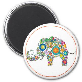 Aimant Art floral d'éléphant
