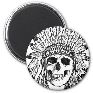 Aimant Art indigène de visage de crâne