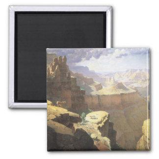 Aimant Art occidental américain vintage, canyon grand par