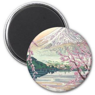 Aimant Art oriental frais de cerisier de ressort de Fuji