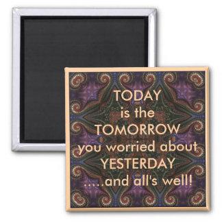 Aimant Aujourd'hui est le demain indiquant l'aimant de