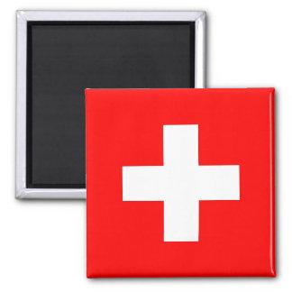 Aimant avec le drapeau de la Suisse