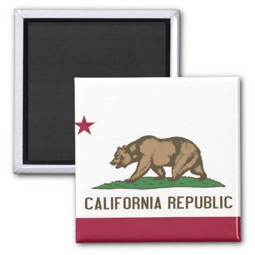 Aimant avec le drapeau de l'état de la Californie