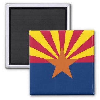 Aimant avec le drapeau de l'état de l'Arizona -