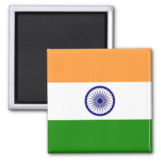 Aimant avec le drapeau de l'Inde