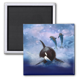 Aimant Baleine et dauphins rêveurs