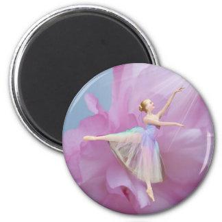 Aimant Ballerine dans le rose et le bleu