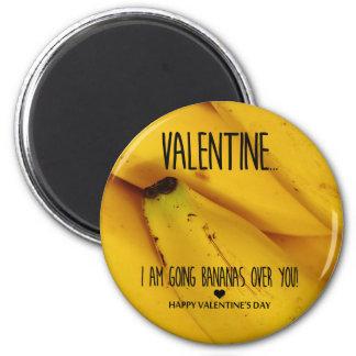 Aimant Bananes allantes au-dessus de vous Saint-Valentin