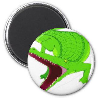 Aimant bande dessinée d'alligator