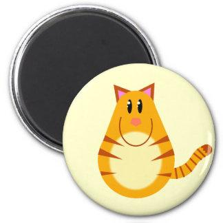 Aimant Bande dessinée de chat tigré