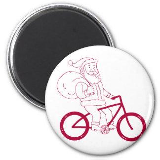 Aimant Bande dessinée de côté de bicyclette d'équitation