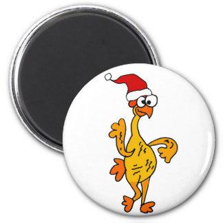 Aimant Bande dessinée en caoutchouc drôle de Noël de