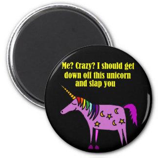 Aimant Bande dessinée folle drôle de licorne