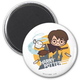 Aimant Bande dessinée Harry et vol de Hedwig après
