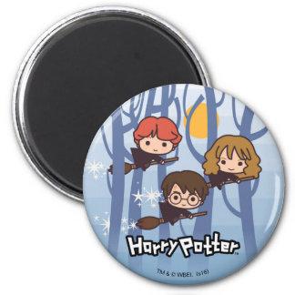 Aimant Bande dessinée Harry, Ron, et vol de Hermione en