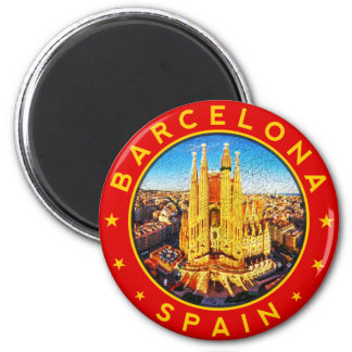 Aimant Barcelone, Spain, circle, red