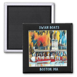 Aimant Bateaux de cygne de Boston d'art déco sur