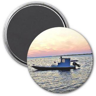 Aimant Bateaux d'océan à l'aimant de coucher du soleil