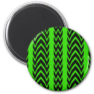 Aimant Battements de coeur verts et noirs