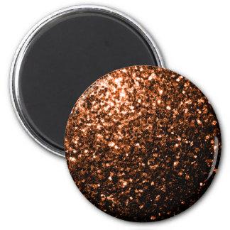 Aimant Beau Brown orange en bronze scintille des