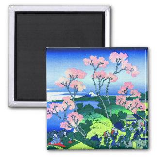 Aimant beaux-arts de fleurs de cerisier de Hokusai de