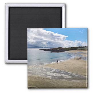 Aimant : Belle plage avec un ciel bleu ; L'Irlande