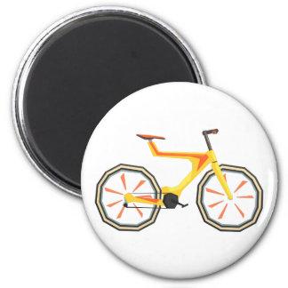 Aimant Bicyclette de jaune de conception de Futurictic.