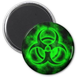 Aimant Biohazard vert