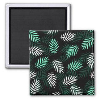 Aimant blanc et vert élégant des palmettes  