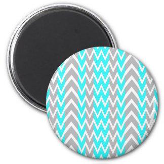 Aimant Bleu au néon avec les ailerons gris