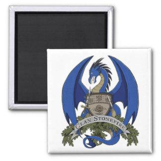 Aimant bleu de crête de dragon de Stonefire