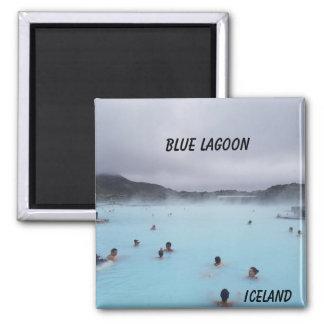 Aimant bleu de l'Islande de lagune
